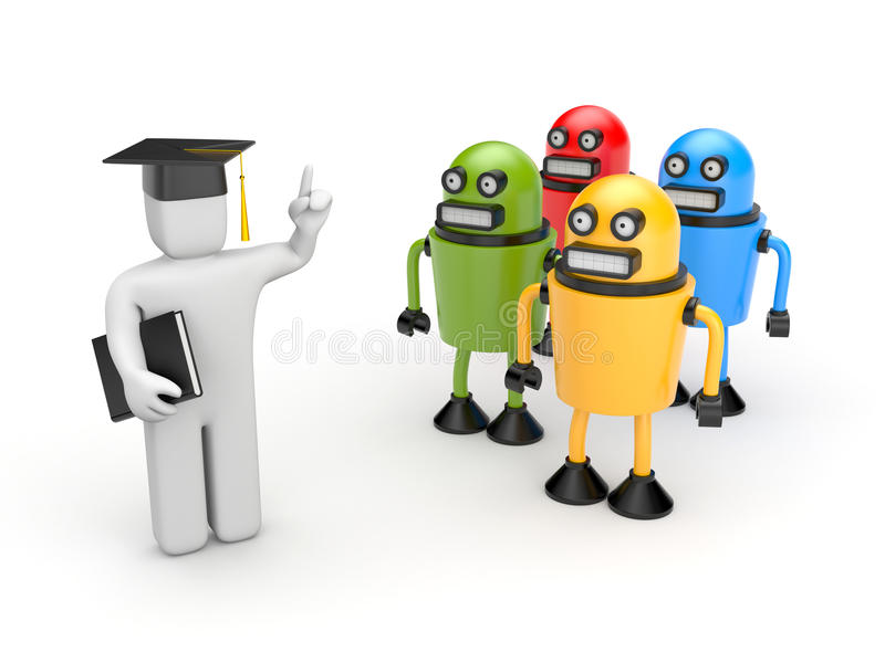 Download Students And Lecturer Or Academic Stock Illustration - Image: 32235842