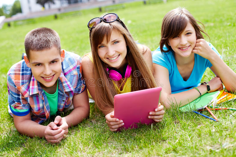 Students At Leisure Royalty Free Stock Photos