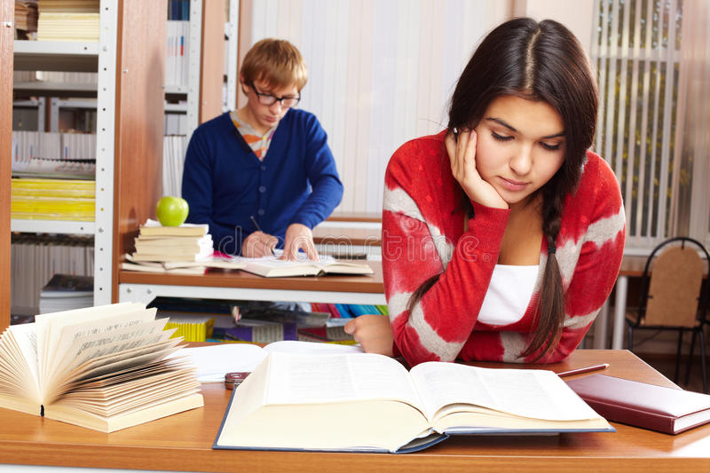 Download Students in library stock photo. Image of encyclopaedia - 16681476