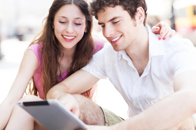Download Students Looking At Digital Tablet Stock Photo - Image: 32321860