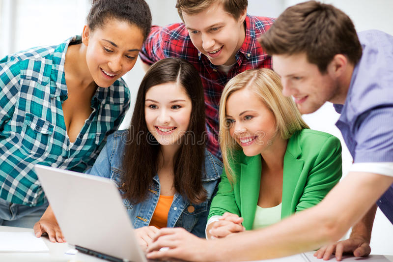 Download Students Looking At Tablet Pc In Lecture At School Stock Image - Image: 33186913