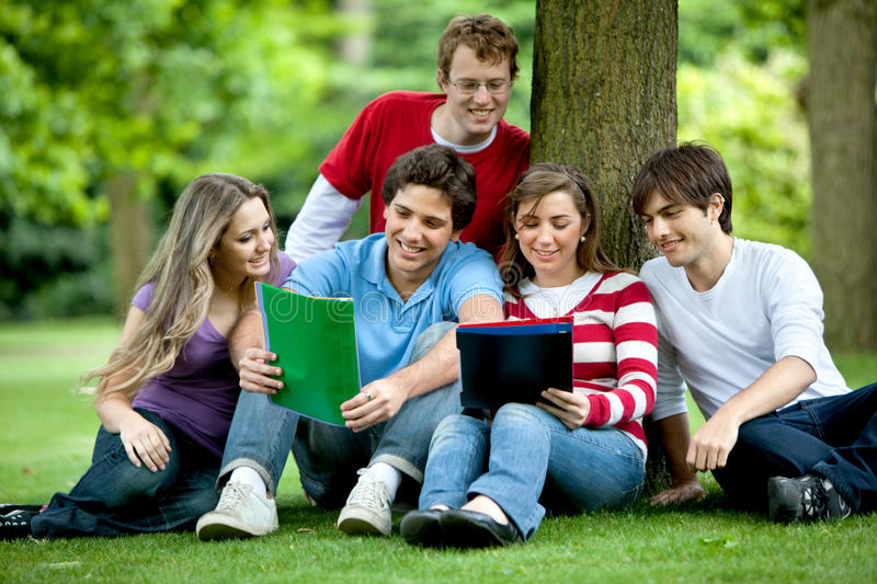 Download Students oudoors stock image. Image of students, girls - 12815801