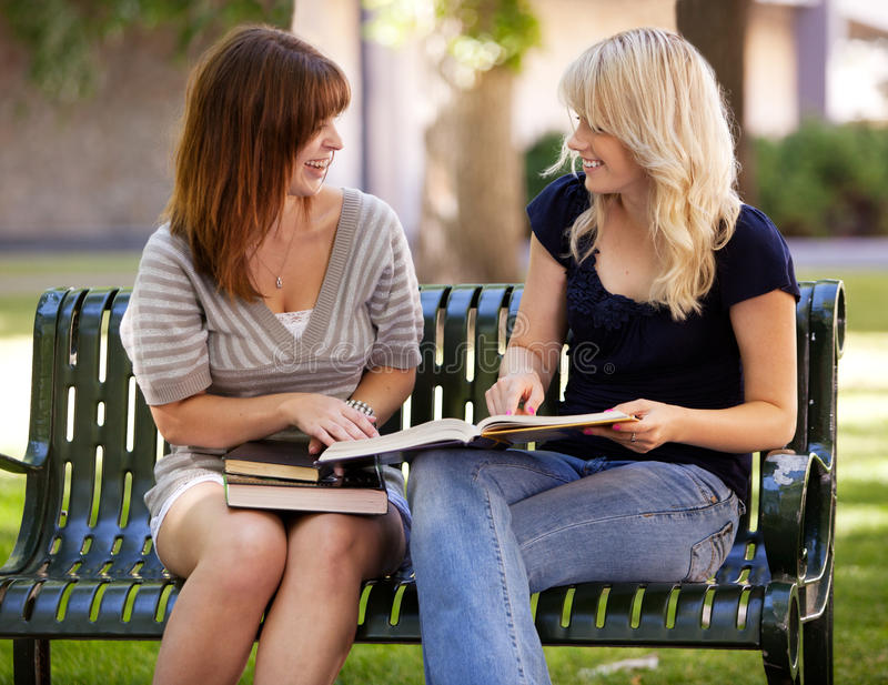 Students Outdoor Study royalty free stock photography
