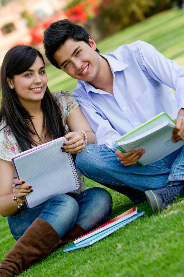 Download Students outdoors stock image. Image of studying, lifestyle - 20861739