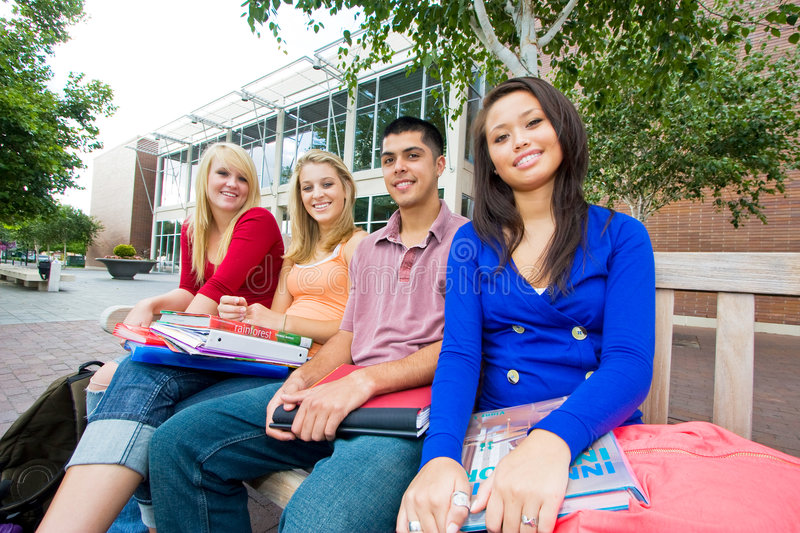 Download Students Outside of School stock photo. Image of outdoors - 7428090
