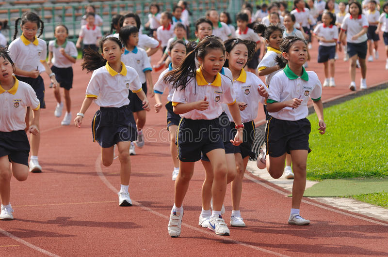 Students In A Running Competition Editorial Stock Photo