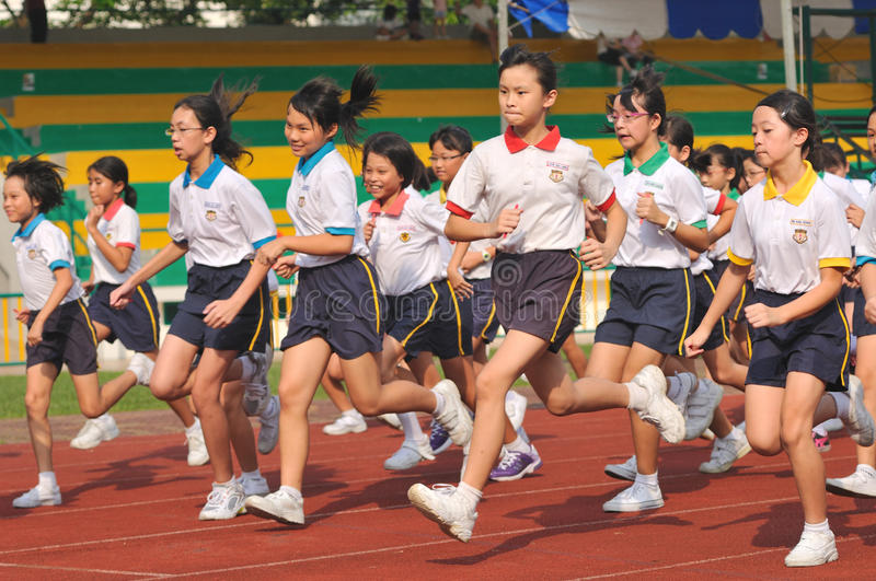 Download Students In A Running Competition Editorial Stock Photo - Image: 24135393