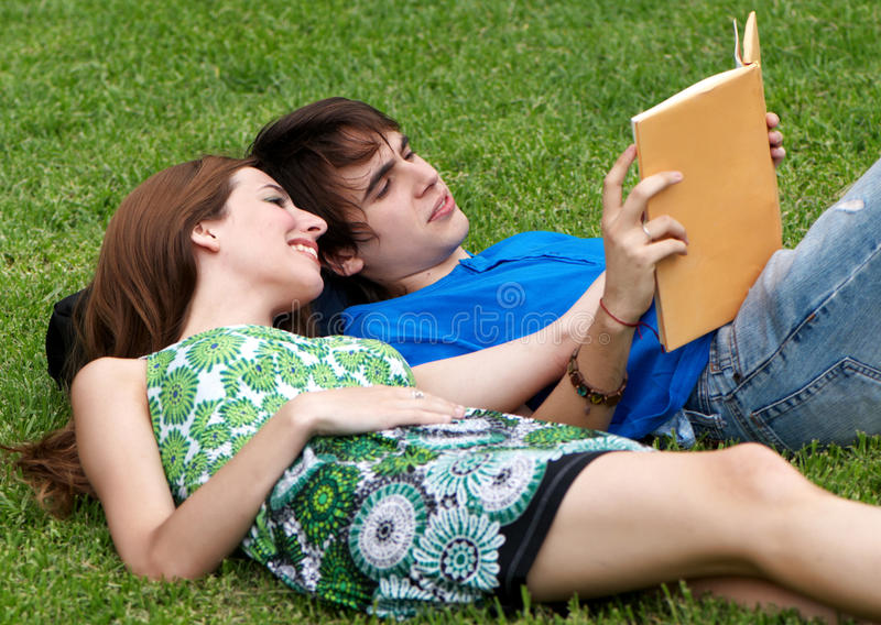 Download Students studying outdoors stock photo. Image of school - 12331010