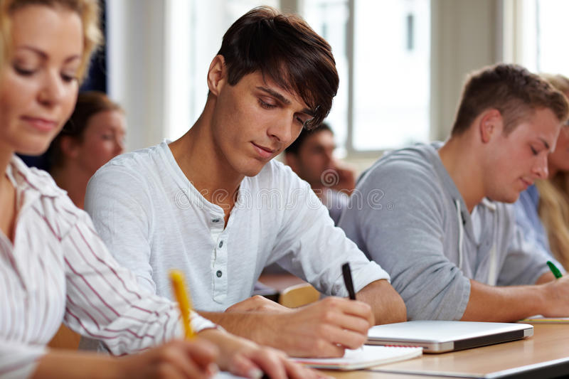 Download Students taking a test stock image. Image of learn, student - 21284273