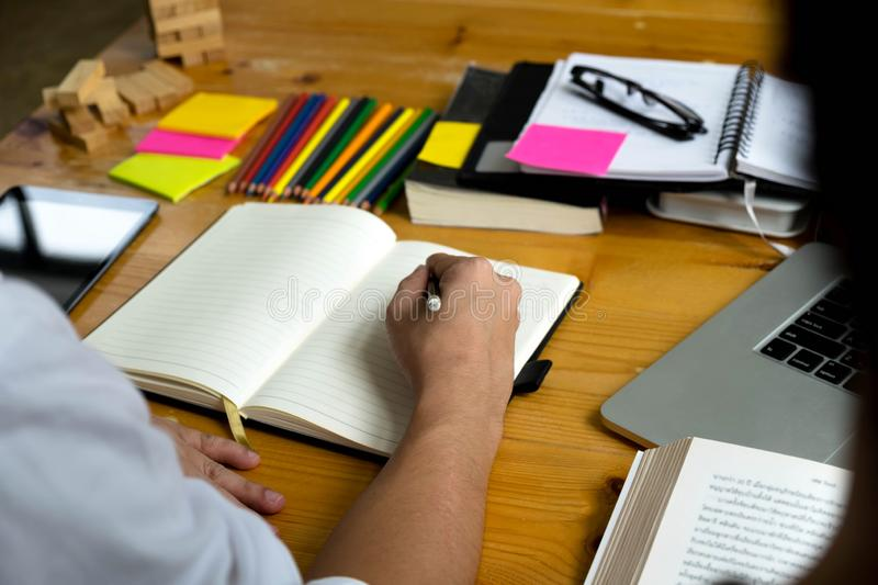 Students teaching and learning subject additional .Education con stock images