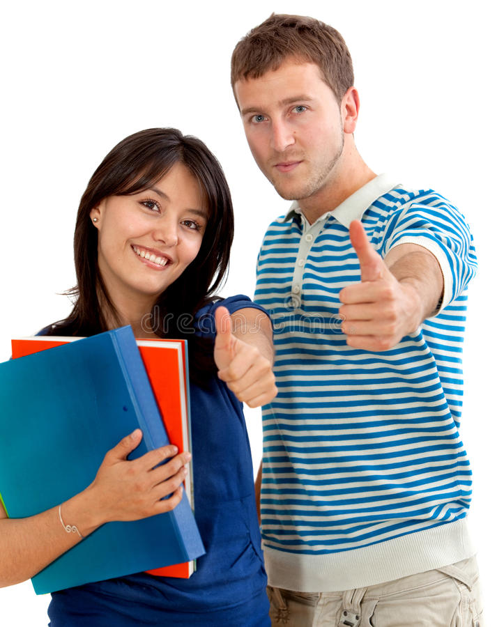 Students with thumbs-up