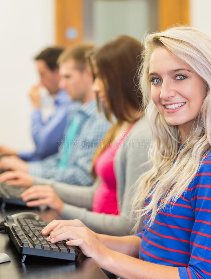 Download Students Using Computers In The Computer Room Stock Image - Image: 35788789
