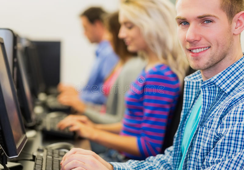 Download Students Using Computers In The Computer Room Stock Image - Image: 35788805