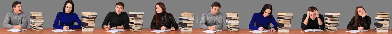 Students working on task royalty free stock photo