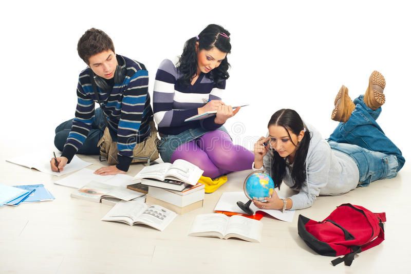 Students Working Together Stock Photos
