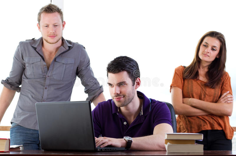 Download Students working together stock image. Image of smiling - 21490217