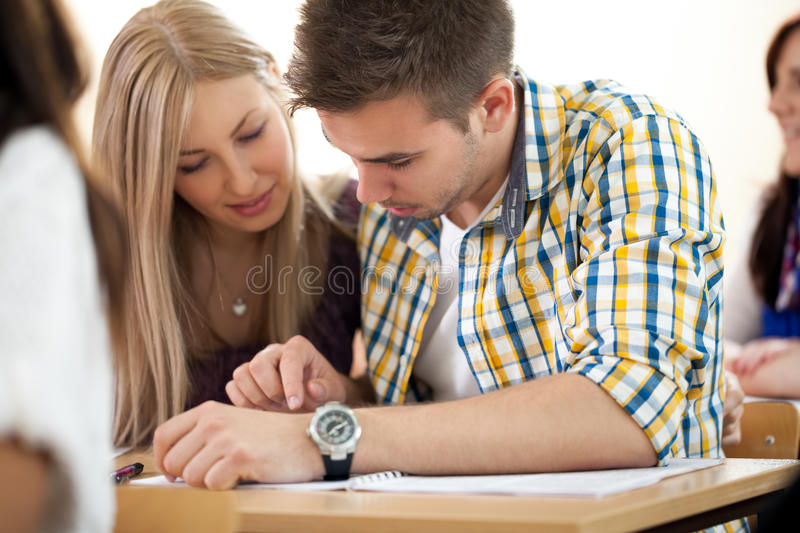 Download Students working together stock image. Image of group - 33256529