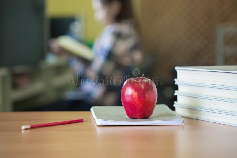 Students write books in the library, Education concept.  royalty free stock photography