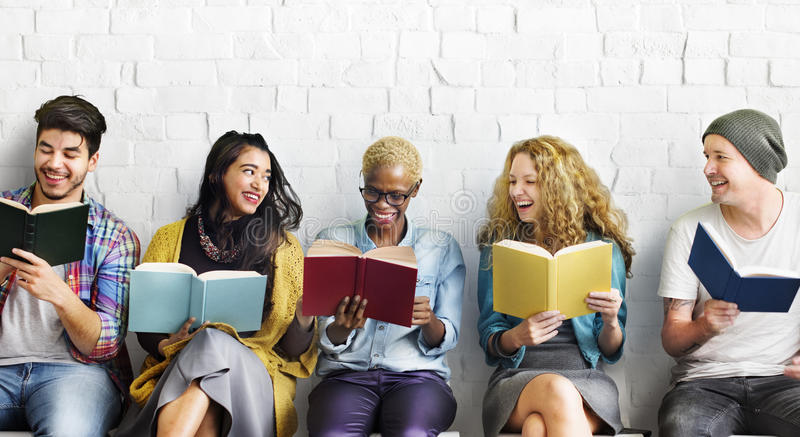 Students Youth Adult Reading Education Knowledge Concept royalty free stock image