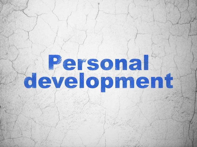 Studera begrepp: Personlig utveckling på väggbakgrund royaltyfri foto