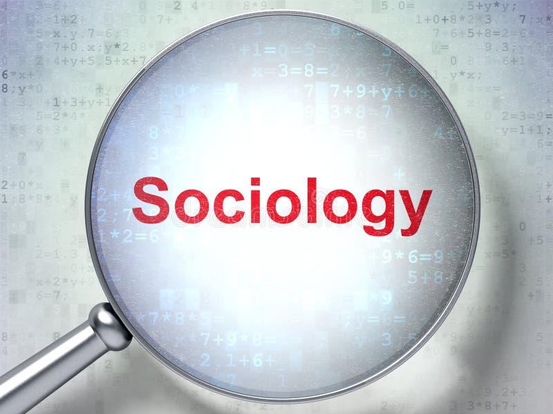 Studera begrepp: Sociologi med optiskt exponeringsglas arkivfoto