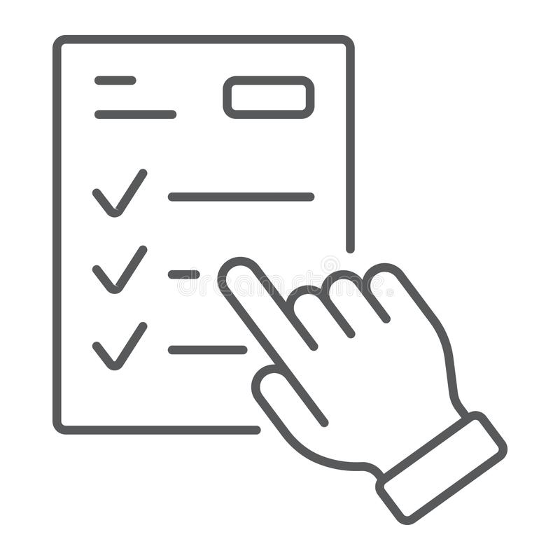 Studera den tunna linjen symbolen, att lära för programmet för e royaltyfri illustrationer