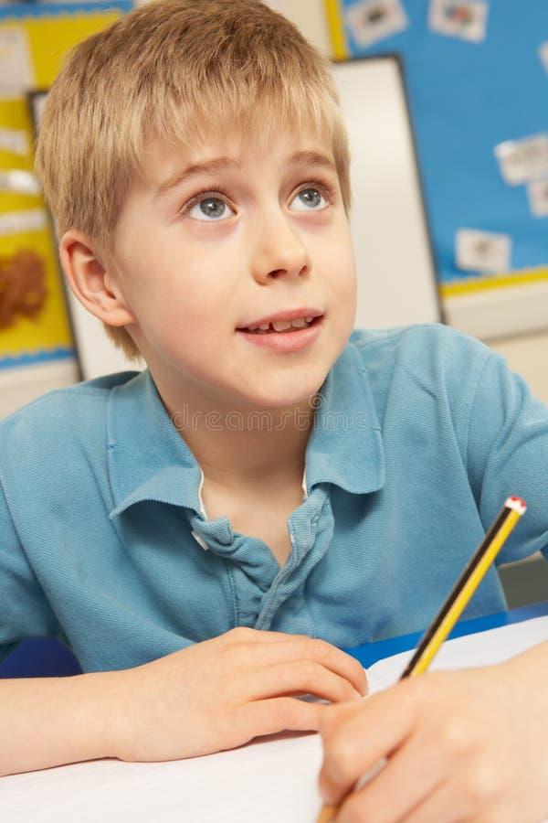 studera för klassrumschoolboy royaltyfria bilder