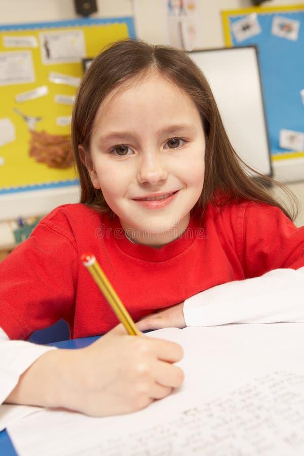studera för klassrumschoolgirl arkivfoton