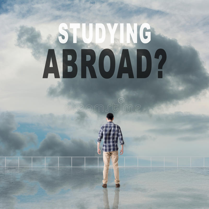 Studera utomlands? royaltyfria bilder