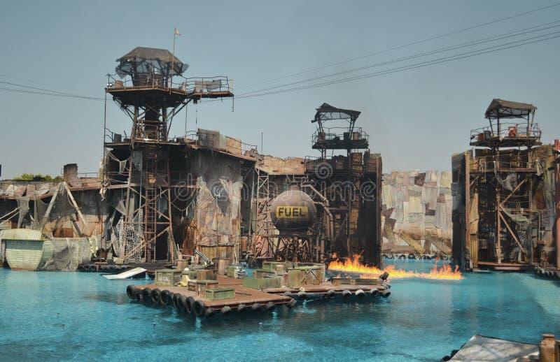 Studi universali Hollywood di esposizione di WaterWorld fotografia stock libera da diritti