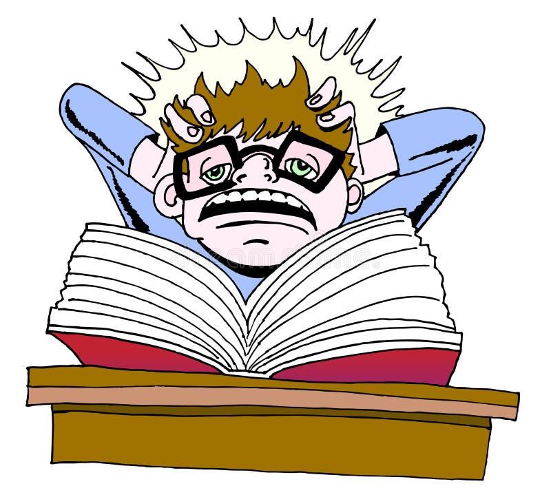 Studiando illustrazione di stock