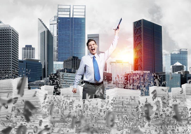 Studie moeilijk succesvolle zakenman te worden stock fotografie