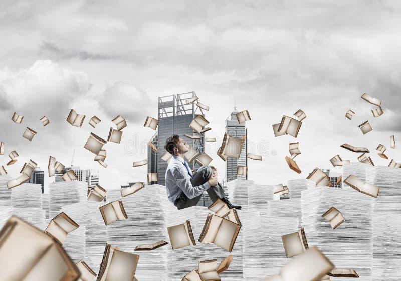 Studie moeilijk succesvolle zakenman te worden stock illustratie