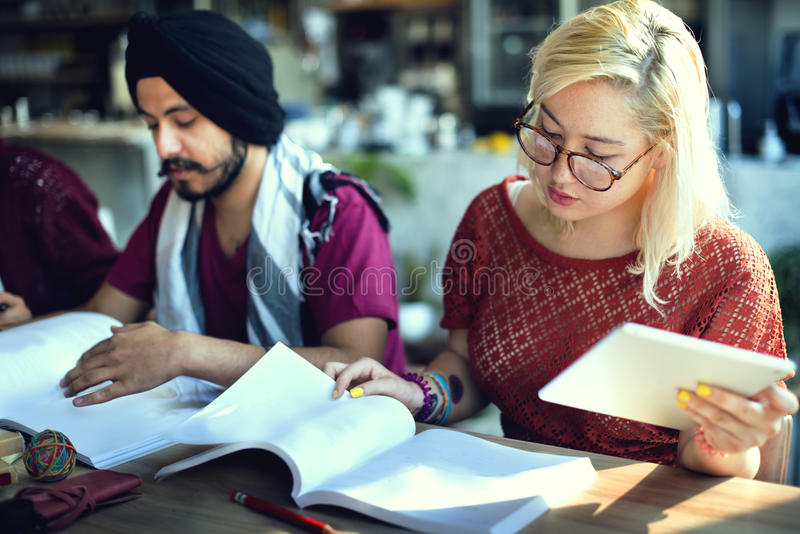 Studien-Studenten-Education University Homework-Konzept lizenzfreies stockbild