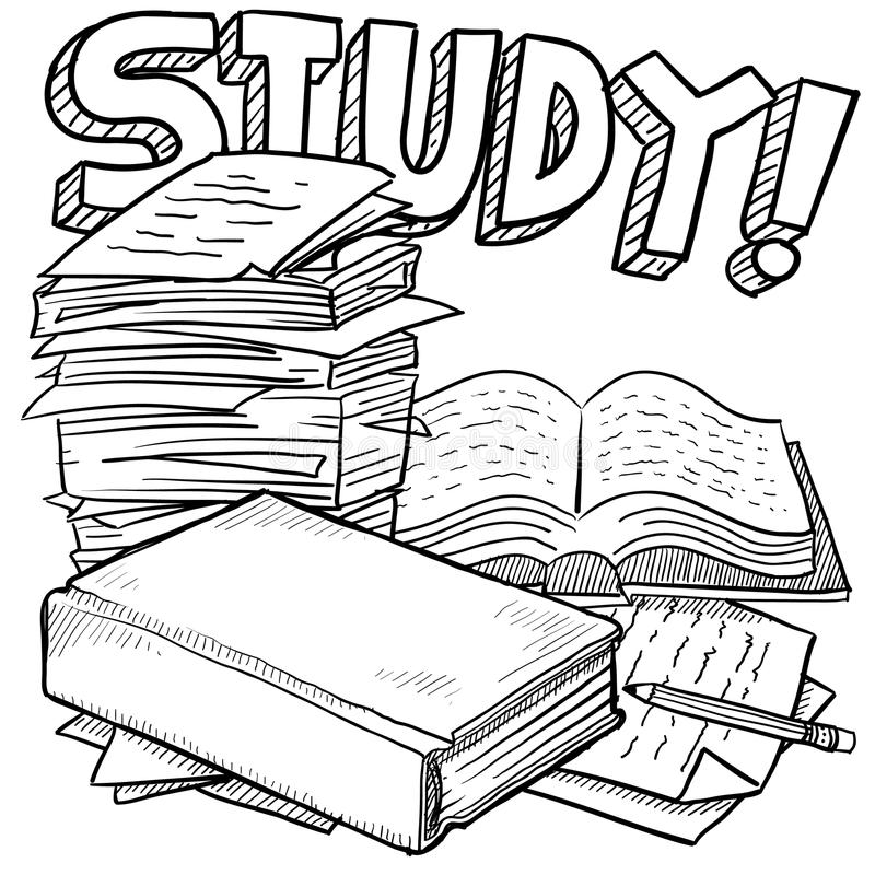 Studienausbildungsskizze stock abbildung
