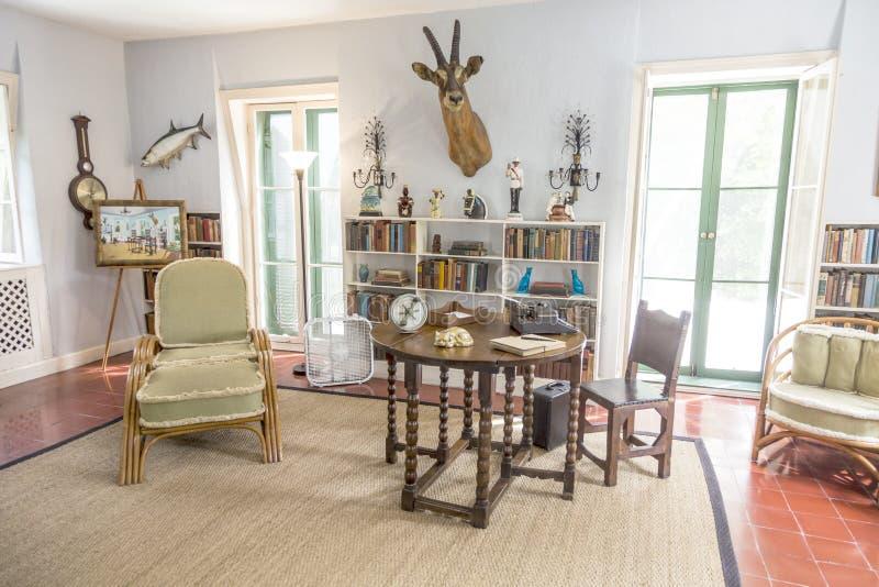 Studienraum in Ernest Hemingway Home und Museum in Key West lizenzfreies stockbild