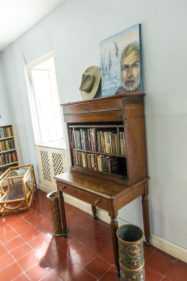 Studienraum in Ernest Hemingway Home und Museum in Key West stockbilder