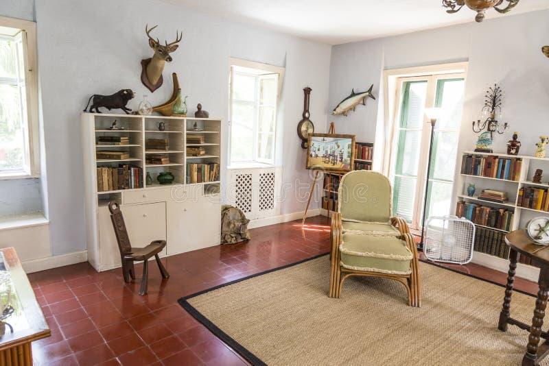 Studienraum in Ernest Hemingway Home und Museum in Key West stockfoto