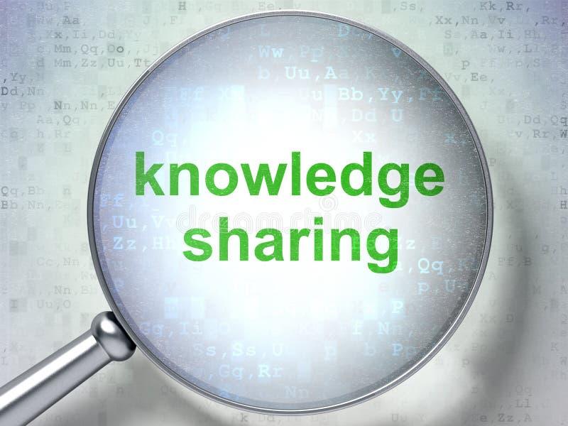 Studieren des Konzeptes: Wissen, das mit optischem Glas teilt lizenzfreies stockfoto