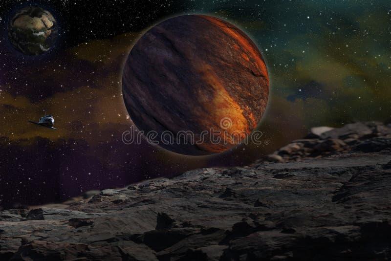 Studieren von anderen Planet stockbilder
