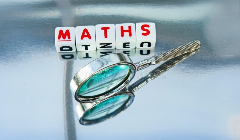 Studieren von Mathematik stockfoto