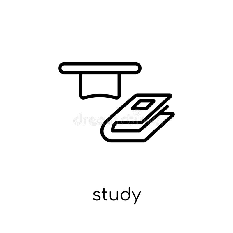 Studiesymbol  vektor illustrationer