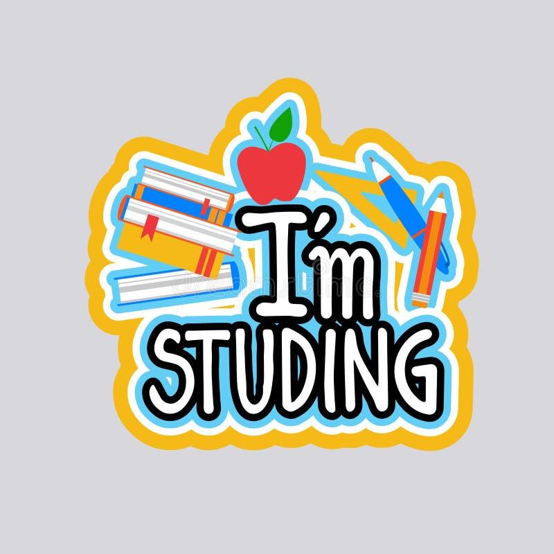 Studing Sticker Social Media Network Message Badges Design. Vector Illustration vector illustration