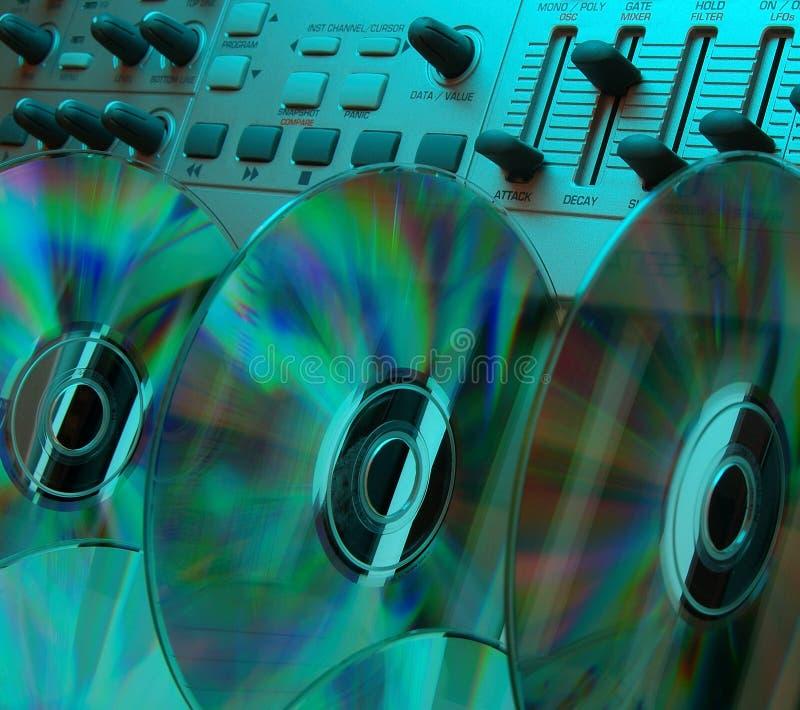 Studio à la maison de musique (3) cyan photos stock