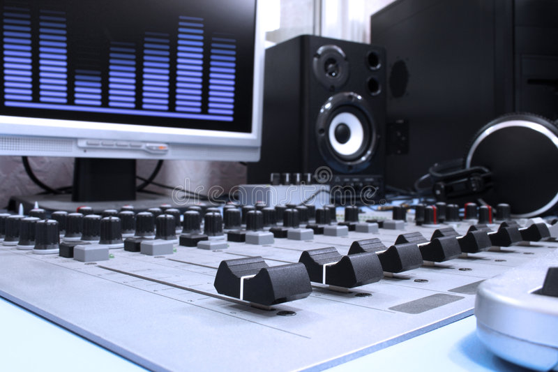 Download In studio stock image. Image of radio, music, switch, radiostation - 7393635