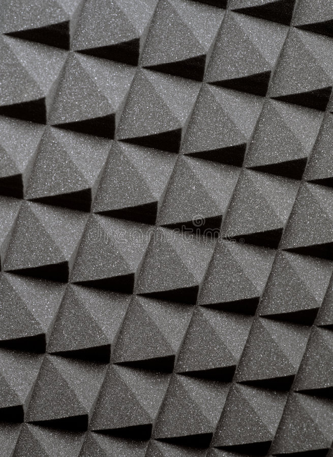 Studio acoustic foam. Background image of recording studio sound dampening acoustical foam royalty free stock images