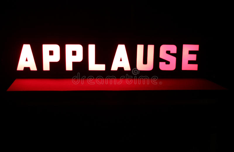 Studio Applause Sign stock image