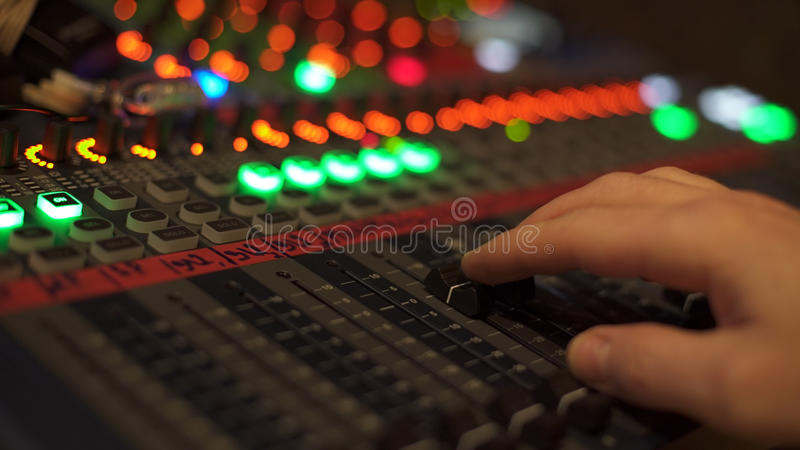 Studio audio mixer stock photos