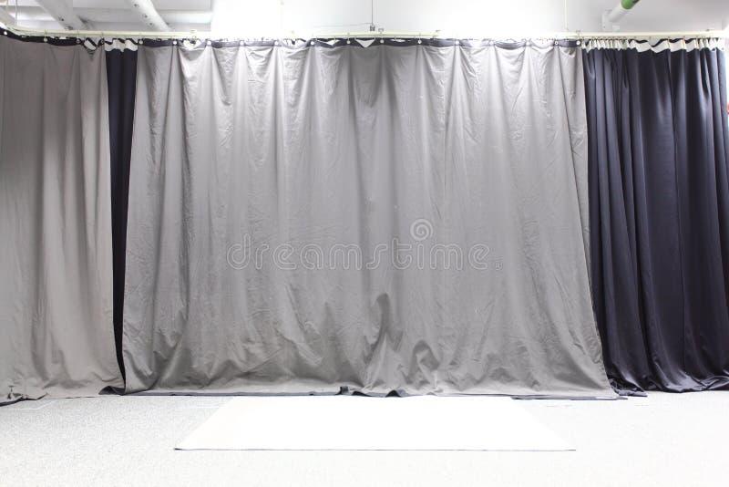 Studio backdrop. Cloth studio backdrop or background stock photo