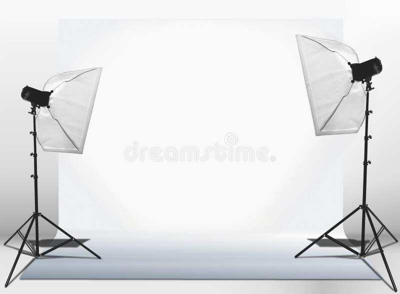 Studio beleuchtet Installation stockbild